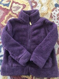 Mini Boden Girls High Pile Fleece Zipper Front Jacket 6-7 years Purple