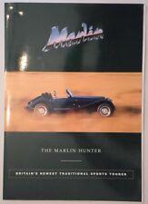 Marlin Hunter Kit Car Orig 1995 Reino Unido Mkt folleto de ventas/paquete con foto de prensa
