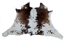 "Cowhide Rugs Calf Hide Cow Skin Rug (25""x29"")  Brown and White CH8065"