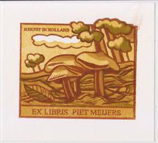 Exlibris from Henk Blokhuis - Mushrooms