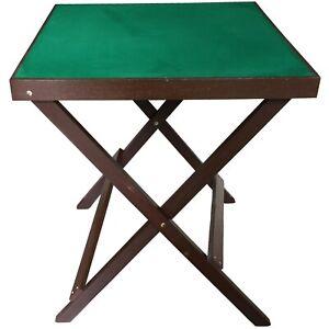 Folding Card Table,Wooden. Games,Bridge,Jigsaw 60 x60 cm New,Green top. Flawed