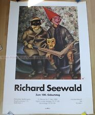 GERMAN EXHIBITION POSTER 1989 - RICHARD SEEWALD - TO 100th ANNIVERSARY