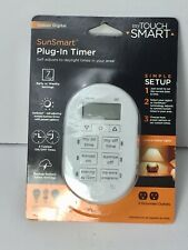 My Touchsmart 35150 Indoor Plug-in Digital Timer 2-Outlet 7-Day SunSmart