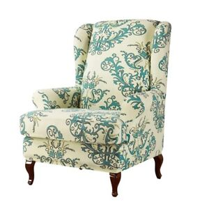 Floral Universal Furniture Protector Printed Wingback Chair Armchair Covers