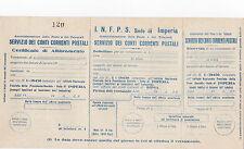 MODULARIO 1942 CONTO CORRENTE I.N.F.P.S. SEDE IMPERIA POSTE E TELEGRAFI 18-46