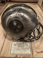 Jerome Bettis Autographed/Signed Pewter Full Size Helmet Pittsburgh Steelers /36