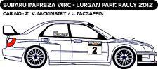 DECALS 1/43 SUBARU IMPREZA WRC #2 - McKINSTRY - RALLYE LURGAN PARK 2012 - D43200