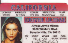 Alyssa Milano star of CHARMED and Project Runway California CA Drivers License