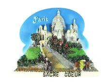 Paris Magnet Poly Reise Souvenir France,Sacre Coeur Kirche,8 cm !