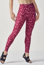 FABLETICS High Waist Legging Berry Bonsoir Red Run Yoga Tight Pants sz XS