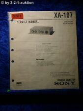 Sony Service Manual XA 107 Source Selector (#3761)