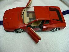 JB- BBURAGO RED FERRARI 1984 TESTAROSSA DIE CAST MADE IN ITALY 1/18  #14196