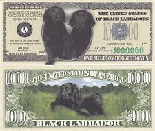 Black Labrador Retriever Dog Novelty Money Bill #238