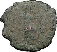 AELIA FLACILLA 378AD Ancient Rare Roman Coin VICTORY CHI-RHO Christ monog i32800