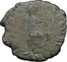 Aelia flacilla 378ad Antigua Rara Moneda Romana Victoria chi-rho Cristo Monog i32800