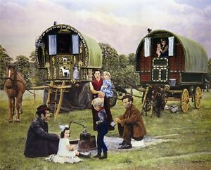 Appleby Fair Horses Romany Gypsy Pictures  Living wagons Fine Art Prints