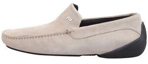 Porsche Design Monaco Men's Leather Shoes Moccasins Suede Khaki