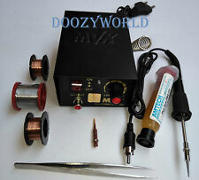 Micro Soldering Iron Adjustable Temperature Station Kit + Built In Stand (5-35W)