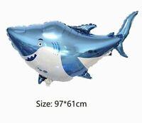 "39"" Baby Shark Foil Balloons Birthday Party Decorations Supplies Jumbo Helium"