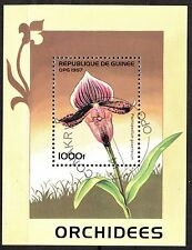0097+ TIMBRE GUINEE  BLOC  ORCHIDEES    1997