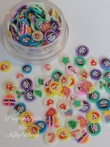 Christmas Fimo Clay Slices Slime Resin Crafts Embellishments Shaker Cards Art