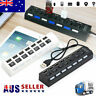 7-Port USB 2.0 Multi Charger Hub +High Speed Adapter ON/OFF Switch Laptop/PC IW