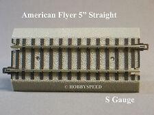"""LIONEL AMERICAN FLYER FASTRACK 5"""" STRAIGHT TRACK S GAUGE AF 2 rail 6-49867 NEW"""