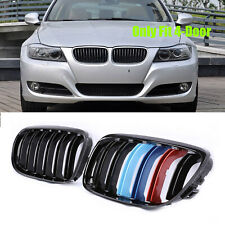 Gloss Black M Color Kidney Grill Grille For BMW E90 E91 2009-2011 325i 328i 335i
