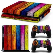 Playstation 4 Original Skin Protective Multicolor psychedelic wood  NEW