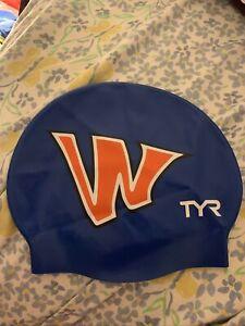 W Westside Aquatics Santa Monica CA High School Team Silicone Rubber Swim Cap