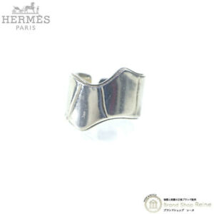 Hermes Cutting Silver Ring Ag925 #58 Made in France Shipped from Japan