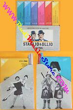 BOX 6 VHS film STANLIO & OLLIO +6 fascicoli VIDEORAI ARMANDO CURCIO(F113) no dvd
