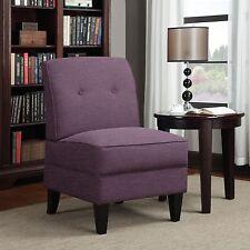 Portfolio Engle Amethyst Purple Linen Armless Chair