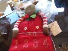 Pottery Barn Kids Reindeer skinny Christmas Advent Calendar mono Duffy New