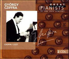 György CZIFFRA GREAT PIANISTS OF THE 20TH CENTURY 2CD Chopin Etudes Liszt Gyorgy