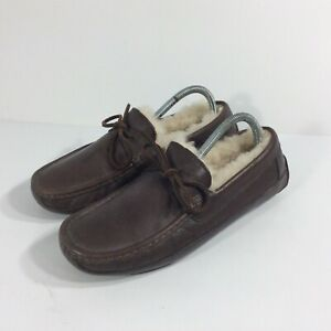 UGG Men's Size 8 Byron Brown Leather Loafers Slippers Moc 5161