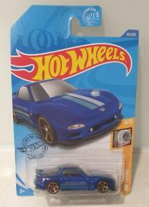 hot wheels '95 Mazda Rx-7 Blue 1995 turbo 2020