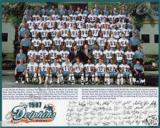1997 Miami Dolphins Football 8X10 Team Photo Marino Jimmy Johnson