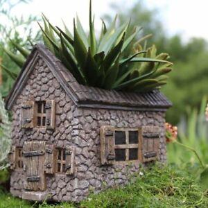 Miniature Dollhouse Fairy Garden Mill House Planter - Buy 3 Save $5