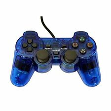 PS2 PlayStation 2 Wired Replacement Controller Transparent Blue By Mars 3Z
