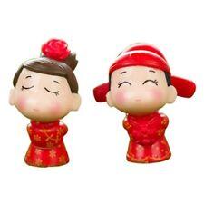 Cute Bride And Bridegroom Mini Figurines DIY Valentine's Day Present Material
