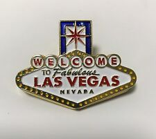 Las Vegas Fabulous Welcome Sign Casino Metal Clip Color Magnet Fridge Gold