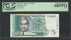 Mauritius 100 Rupees 1998 P44 Uncirculated Graded 68