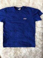 Vintage 90's Embroidered FILA T Shirt Size Large Blue Short Sleeve