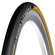 GIALLO MICHELIN LITHION pieghevole ROAD RACING bici CICLO PNEUMATICO 700 23c