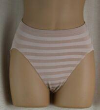 Beige Striped Bikini Panties Stretchy Size 6 Vtg
