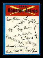 1973 OPC Blue Checklists #10 Houston Astros  VGEX X1700706