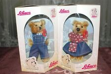 Schuco Bearli Daddy and Mommy Bear Collectible Mohair Bears NIB Set of 2