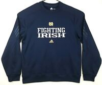 Adidas Climawarm Notre Dame Irish Embroidered Blue Sweatshirt Mens Size Large