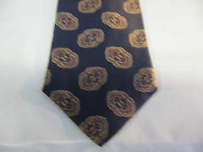 55 x 4 Blue Brown Silk Tie Necktie Lord & Taylor  (6383) Free US Shipping